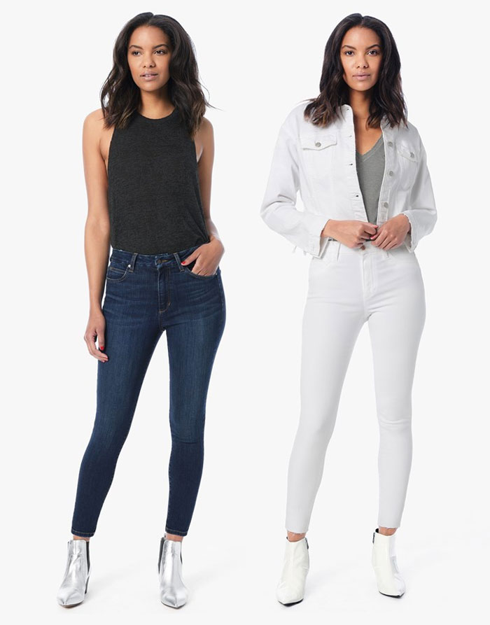 The New Hi Honey Denim Collection from Joe's  - White Skinny and Blue Skinny