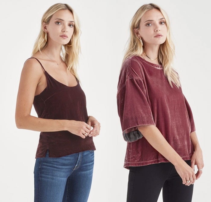 New Velvet Pieces for Fall from 7 For All Mankind - Tank and Sweater