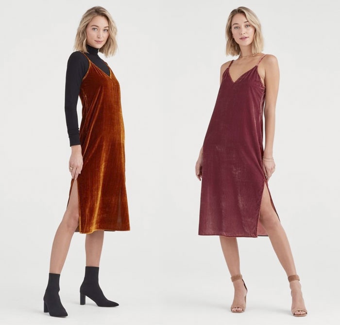 New Velvet Pieces for Fall from 7 For All Mankind - Dresses