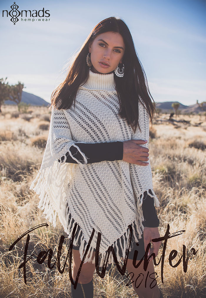 The Nomads Hemp Wear Fall/Winter 2018 Collection - Equinox Poncho