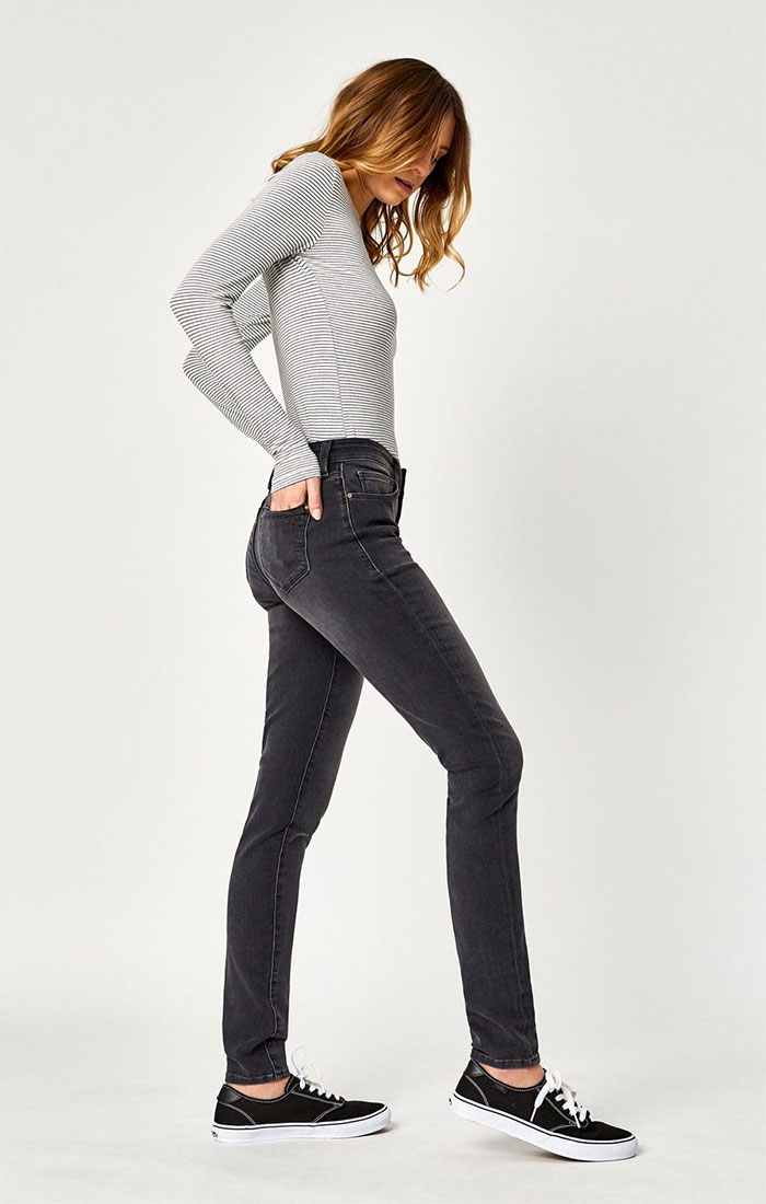 New Stylish and Soft Fall Denim Arrivals from Mavi - Adriana Skinny in Dark Smoke Supersoft