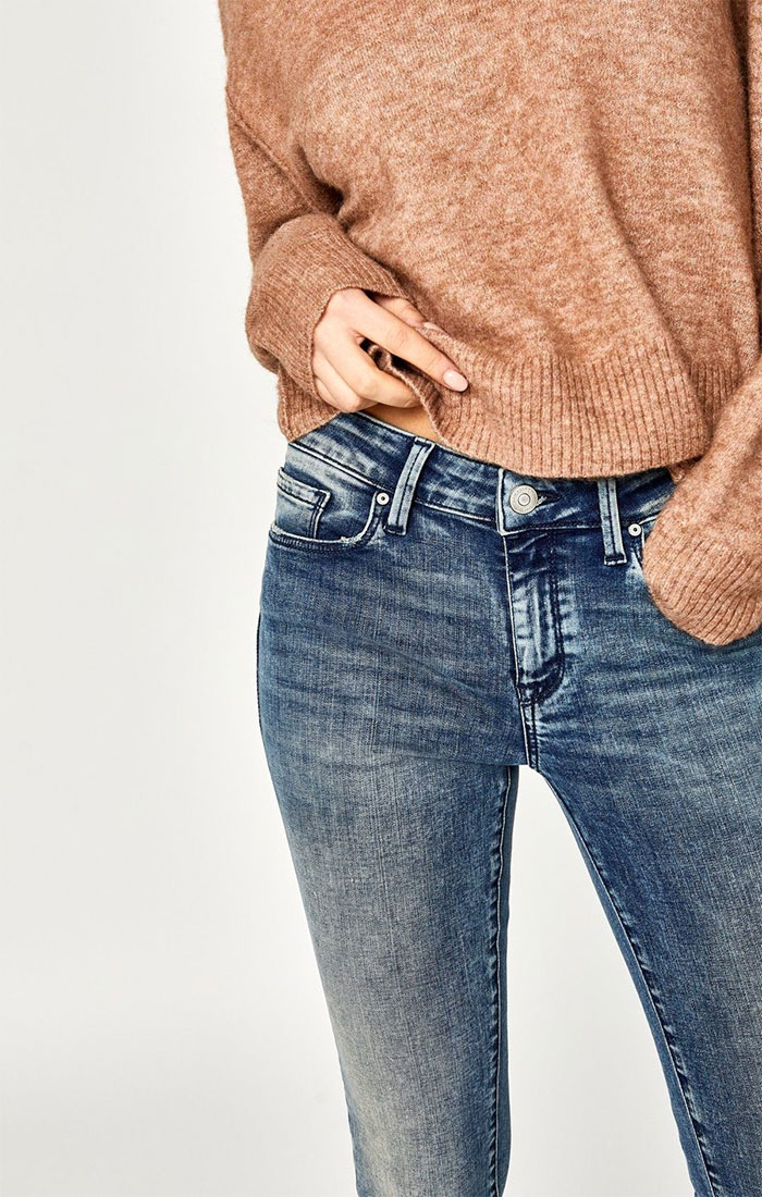 New Stylish and Soft Fall Denim Arrivals from Mavi - Adriana Skinny in Indigo Blue Tribeca