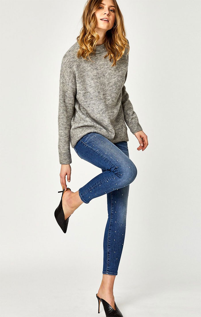 New Stylish and Soft Fall Denim Arrivals from Mavi - Lexy Skinny in Indigo Gold Shine