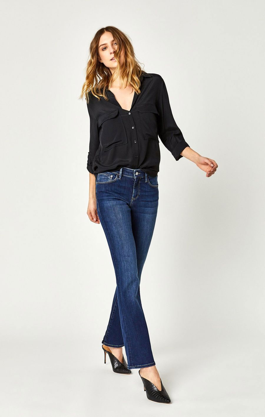 New Stylish and Soft Fall Denim Arrivals from Mavi - Molly Boot in Indigo Supersoft