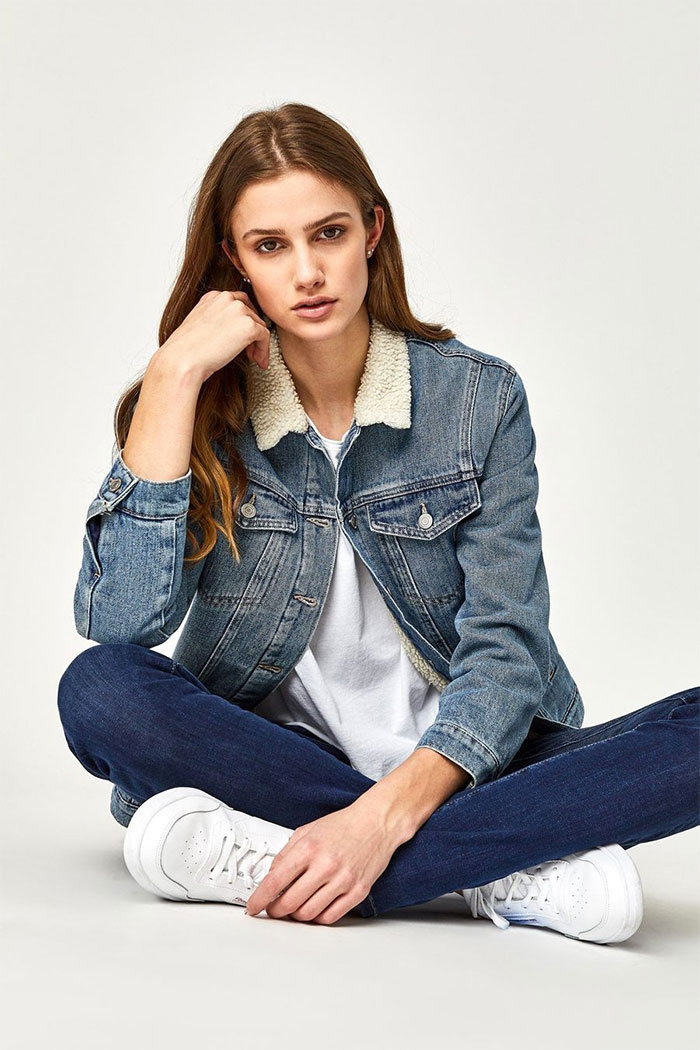 New Stylish and Soft Fall Denim Arrivals from Mavi - Sherpa Jacket