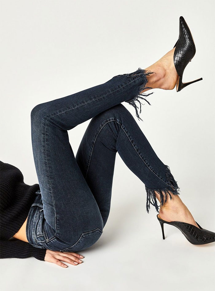 New Stylish and Soft Fall Denim Arrivals from Mavi - Tess Skinny in Ink Fringe Vintage