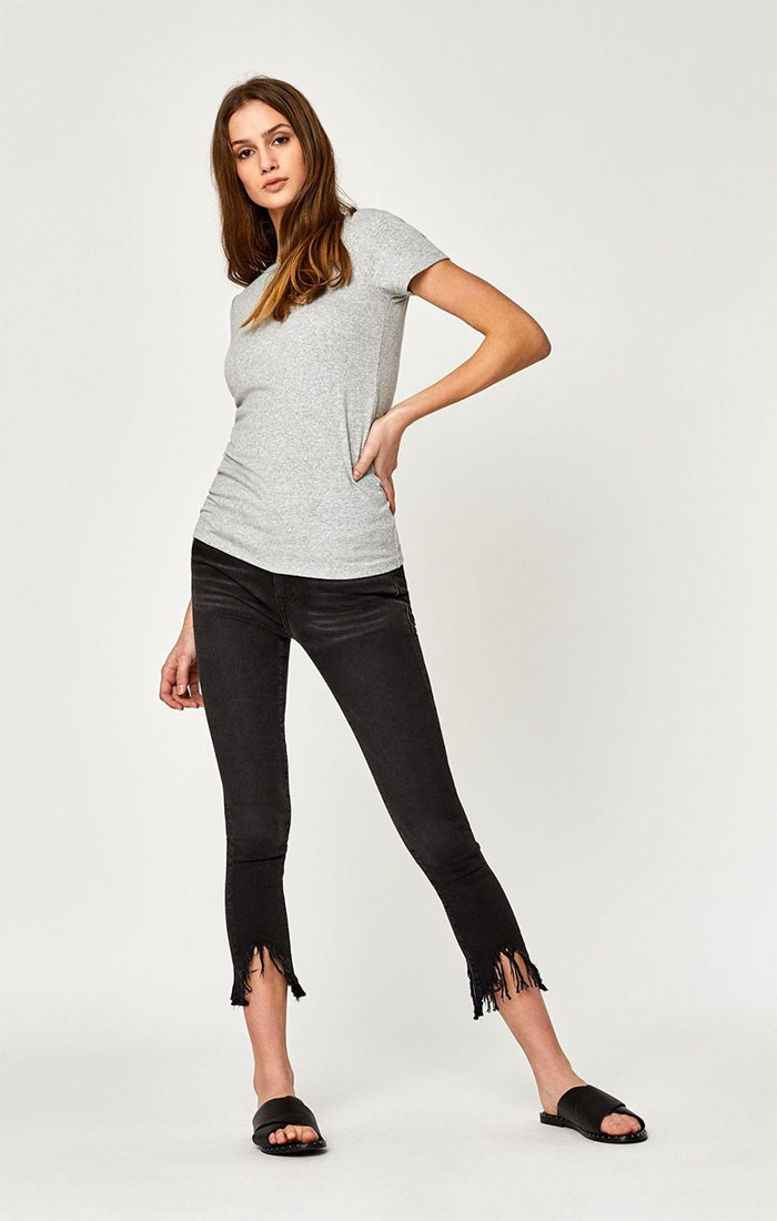New Stylish and Soft Fall Denim Arrivals from Mavi - Tess Skinny in Smoke Fringe