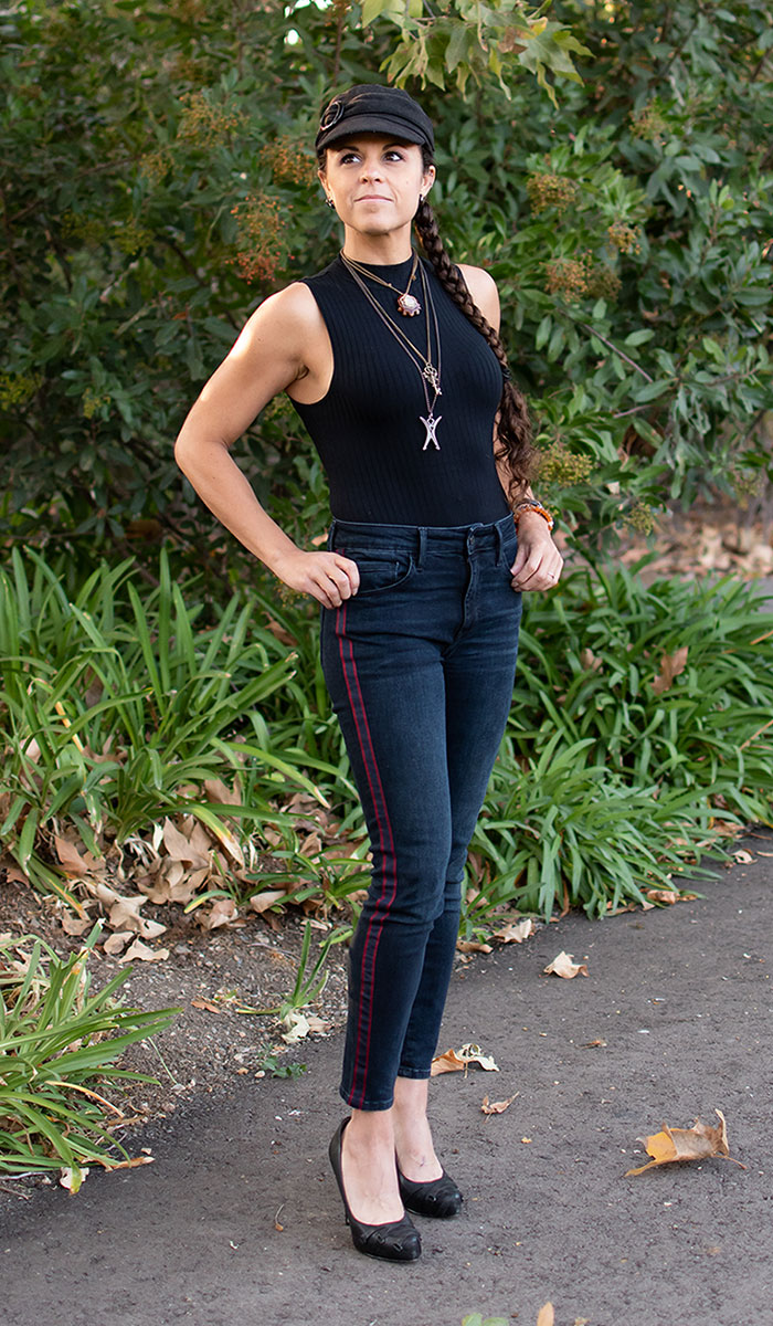 Mavi Jeans Tess Super Skinny in Ink Stripe Review - 7
