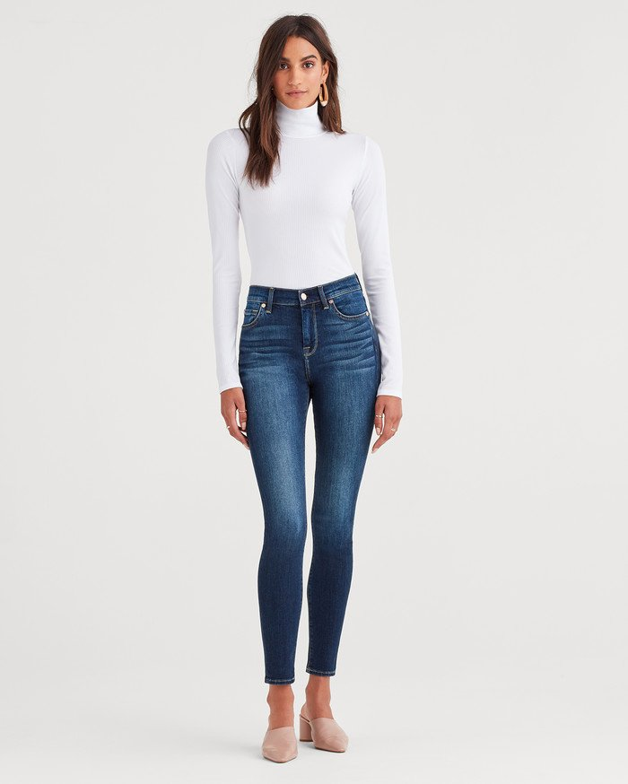 7 For All Mankind Releases Lightweight Vintage Style with b(air) Authentic - High Waist Skinny in Fate