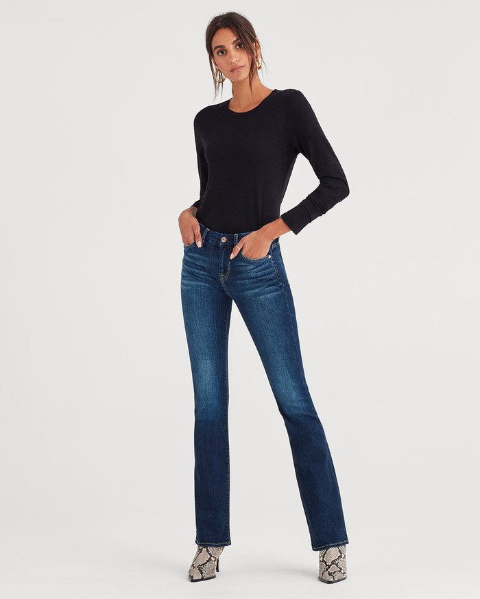 7 For All Mankind Releases Lightweight Vintage Style with b(air) Authentic - Kimmie Bootcut in Fate