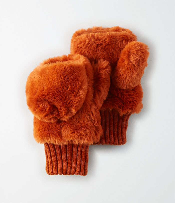 Buy a Winter Accessory and Give Back at American Eagle and Aerie - Faux Fur Mitten