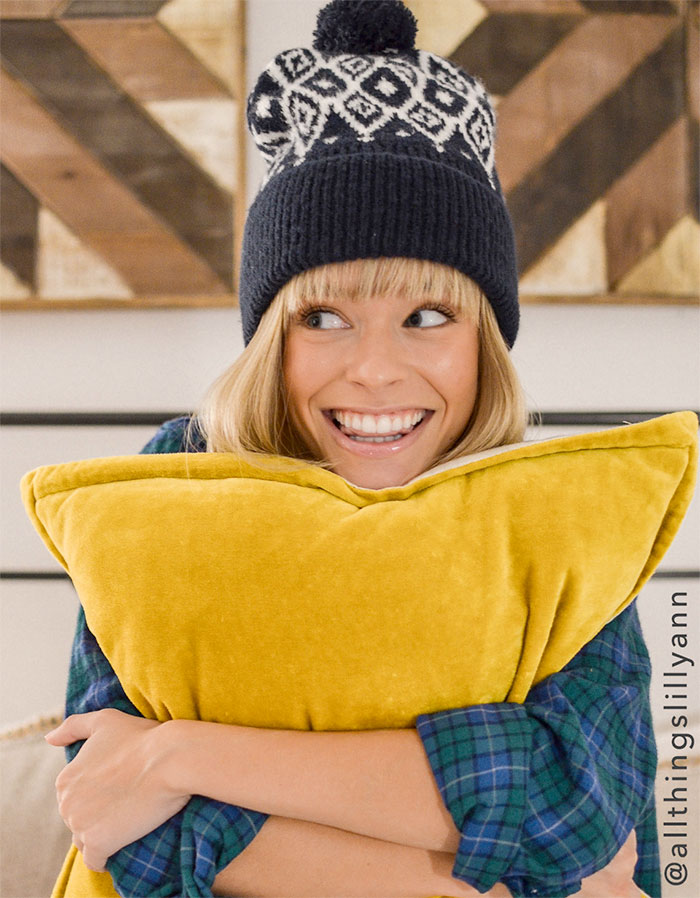 Buy a Winter Accessory and Give Back at American Eagle and Aerie - Patchwork Beanie