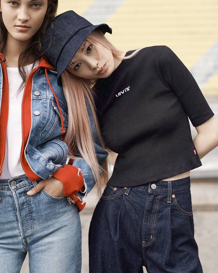 Low Rise, Ribcage, and Asymmetrical Jeans Oh My - Levi's Ribcage Jeans - Livestyle Shot