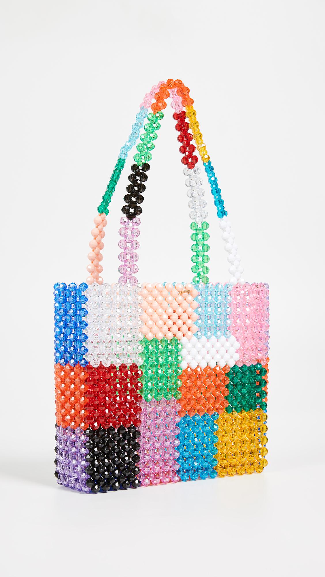 Super Cute Woven Beaded Bags by Susan Alexandra - Ash Bag