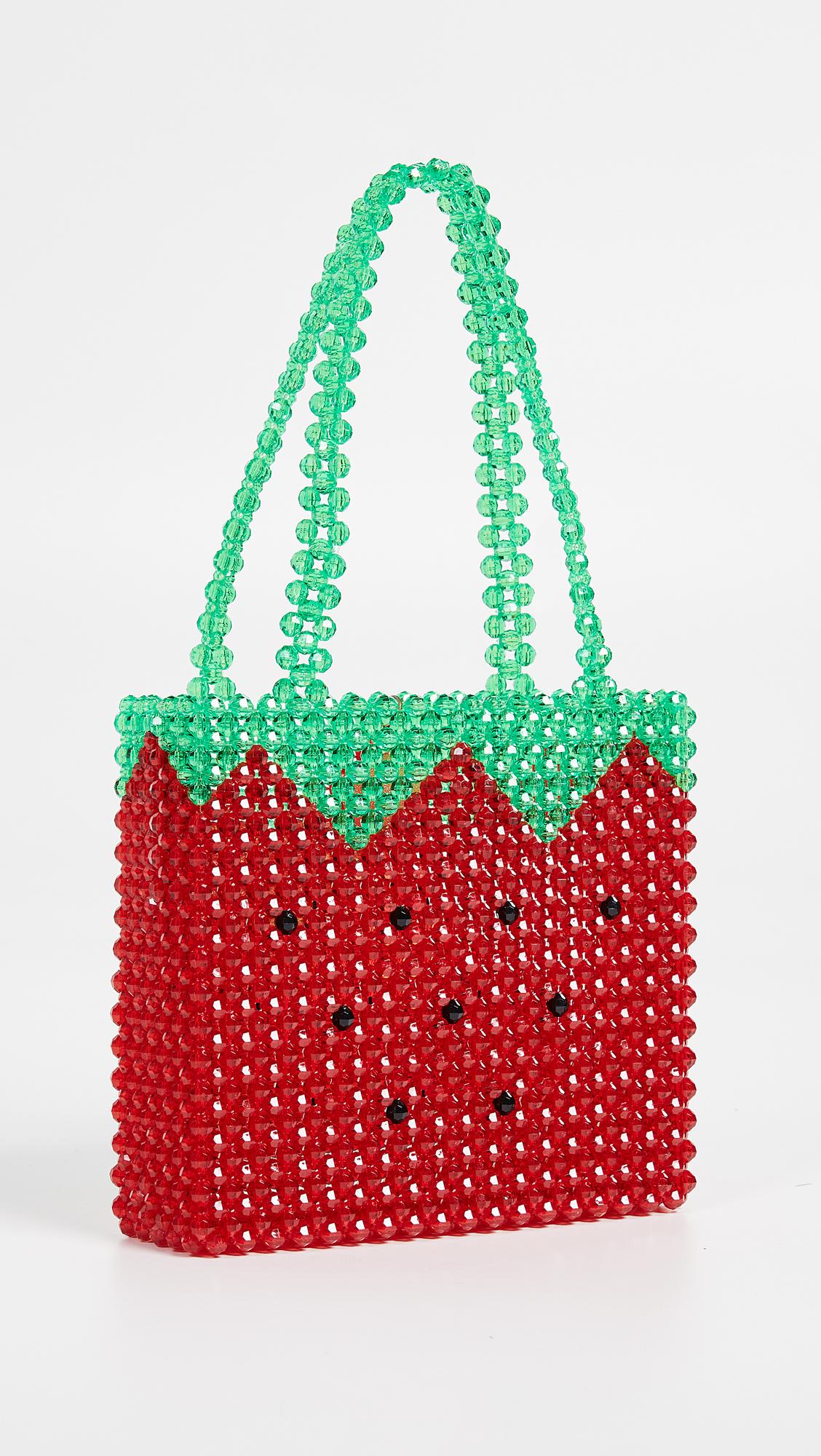 Super Cute Woven Beaded Bags by Susan Alexandra - Fresas Bag