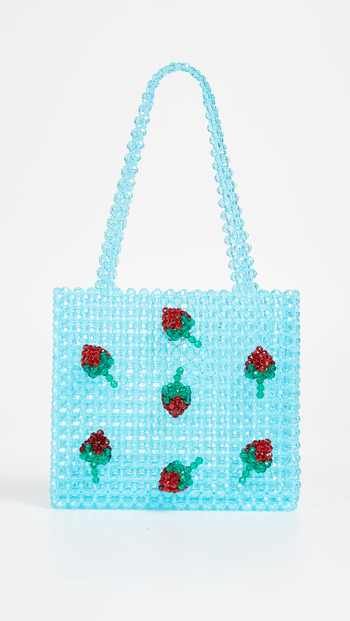 Super Cute Woven Beaded Bags by Susan Alexandra - Strawberry Bag
