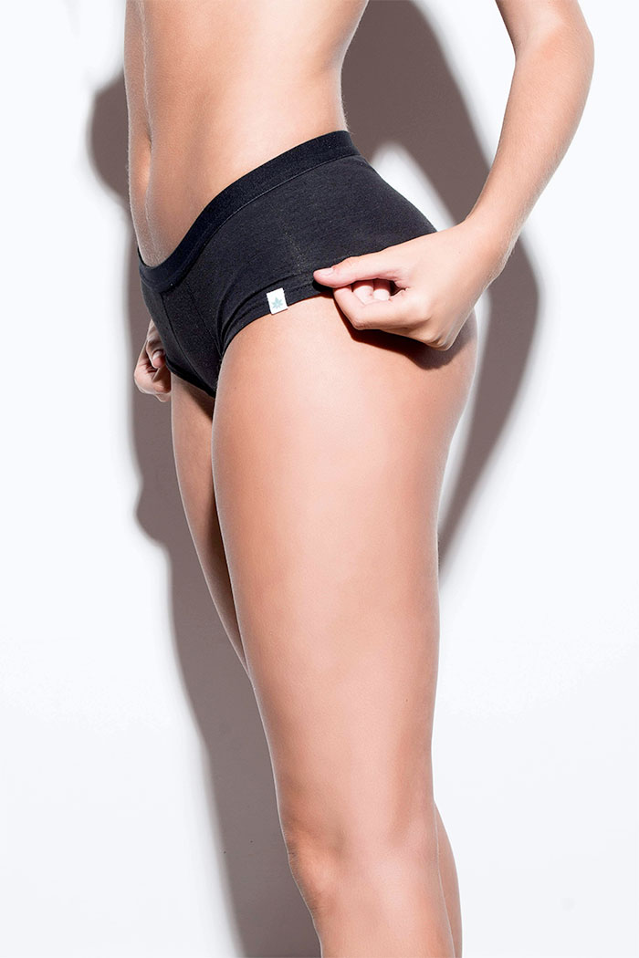 Eco Friendly Women's Hemp Hipsters from WAMA Underwear - Side Shot