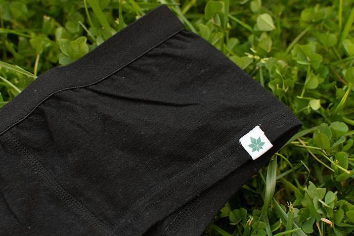 Eco Friendly Women's Hemp Hipsters from WAMA Underwear - Logo Closeup