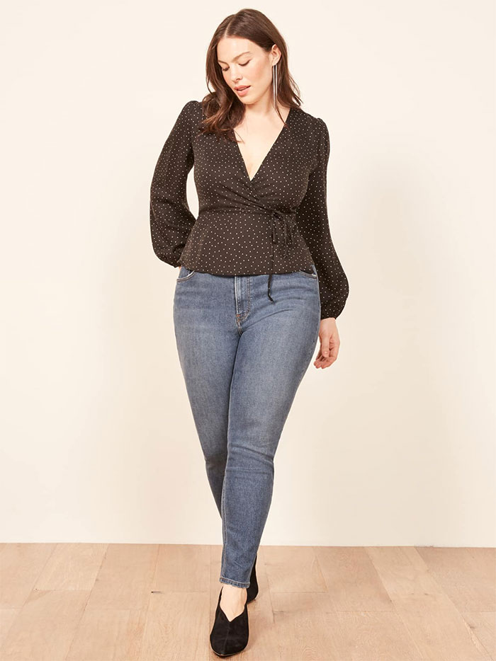 Stylish Sustainable Denim and More from Reformation - High Skinny Plus Size Jean