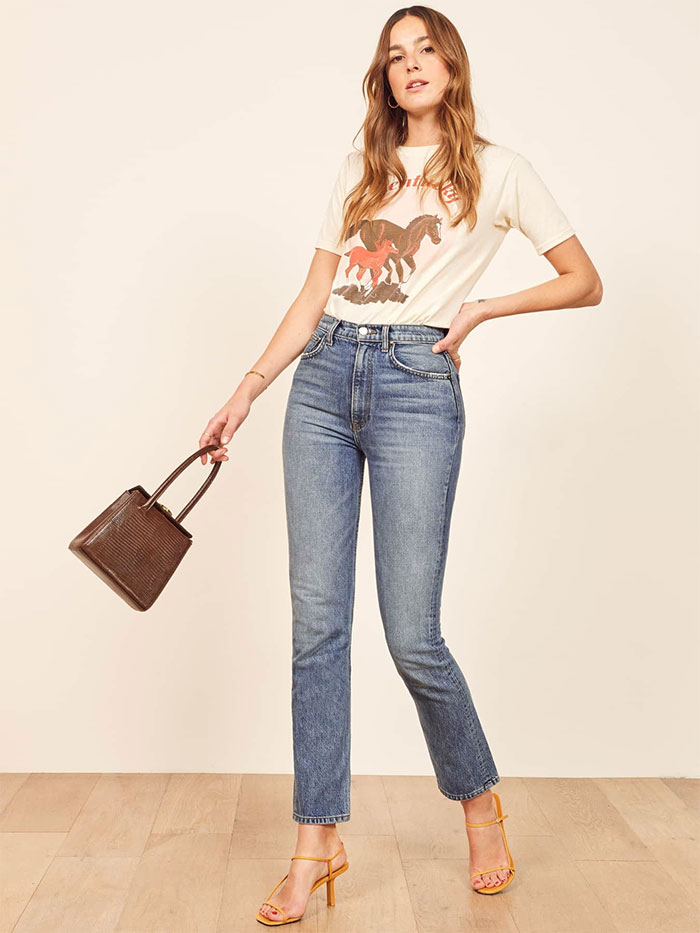 Stylish Sustainable Denim and More from Reformation - Stevie Ultra High Jean