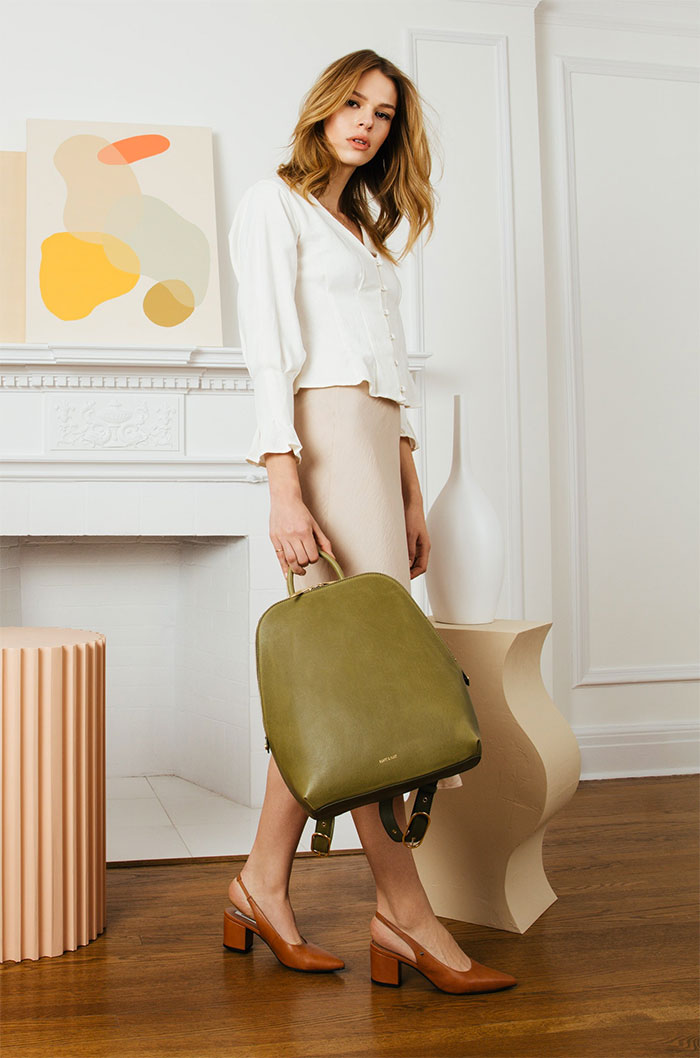 The Studio 901 Handbag Collection by Sustainable Brand Matt & Nat - Kiev Backpack with Model