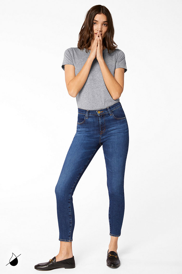New Eco Sustainable Denim Styles from J BRAND - Alana High Rise Cropped Skinny in Arcade