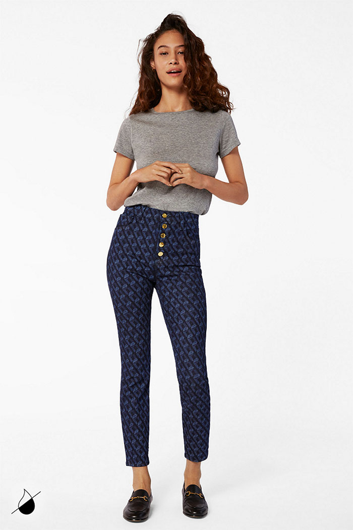 New Eco Sustainable Denim Styles from J BRAND - Lillie High Rise in J-Link Indigo