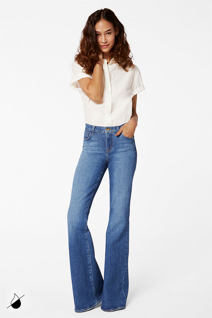 New Eco Sustainable Denim Styles from J BRAND - Valentina Flare in Endeavor