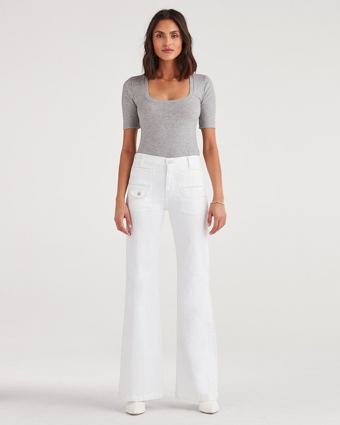 New Fun White Denim Styles for Summer from 7 For All Mankind - Georgia