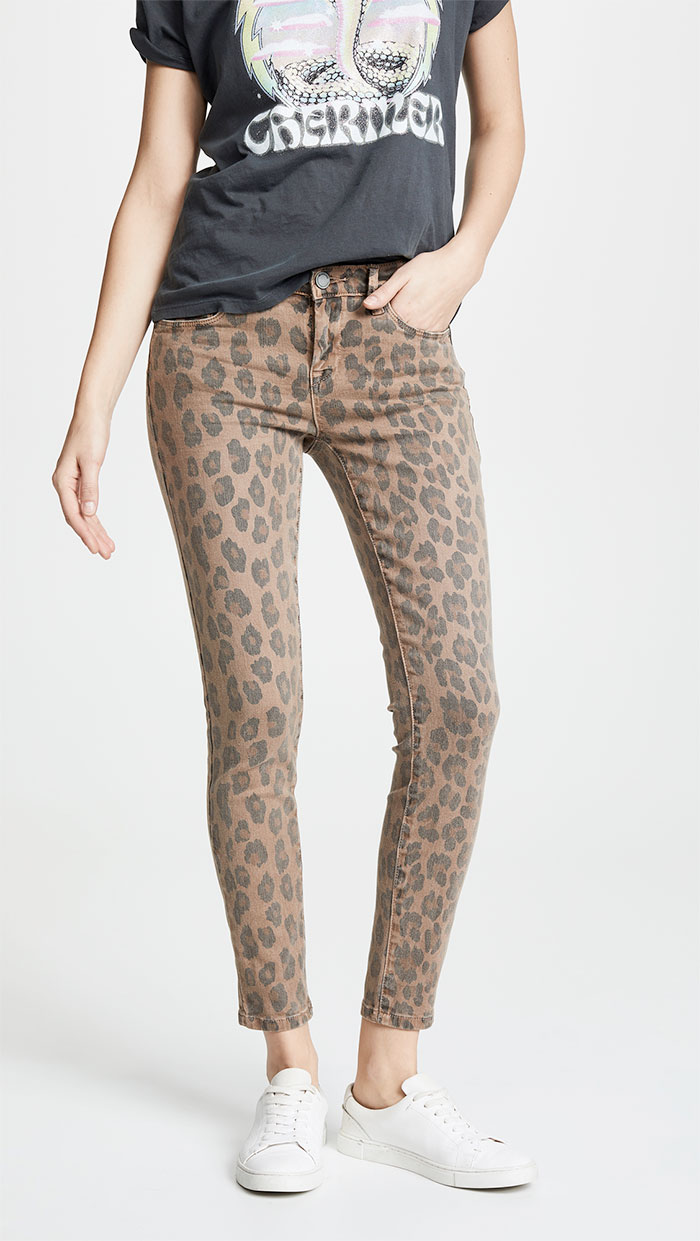 Blank Denim Leopard Print Skinny in Catwalk