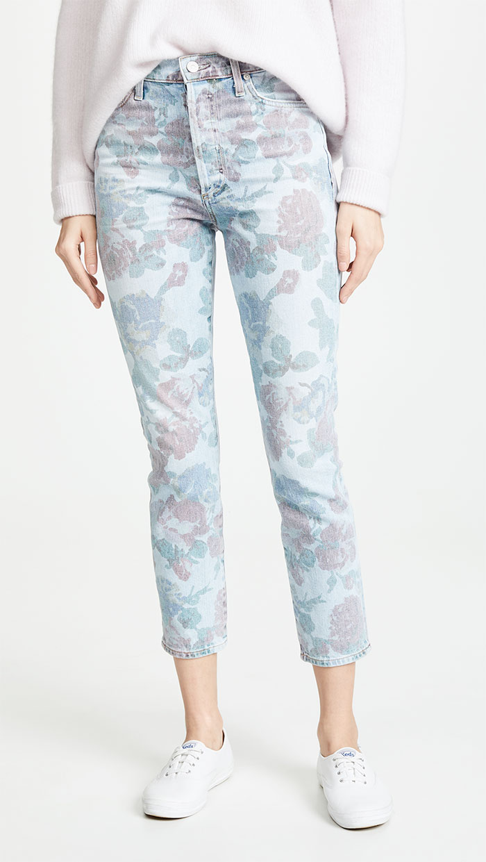 itizens of Humanity Olivia Crop High Rise Slim Jeans in Bouquet