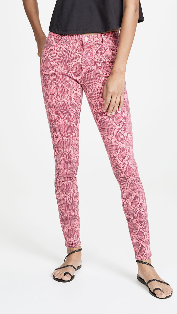 J Brand 620 Neon Pink Boa Jeans in Neon Pink