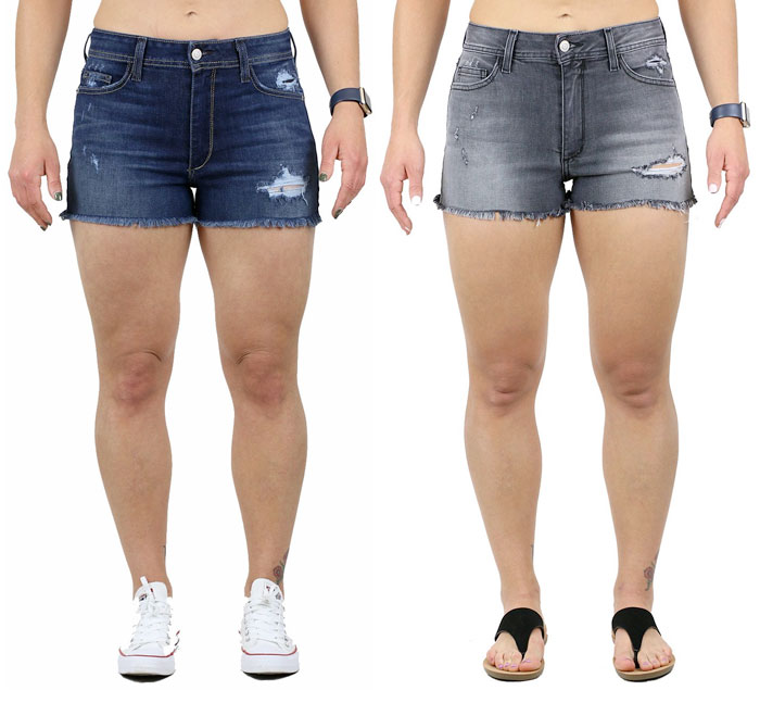 Fran Denim Amy Shorts for muscular women
