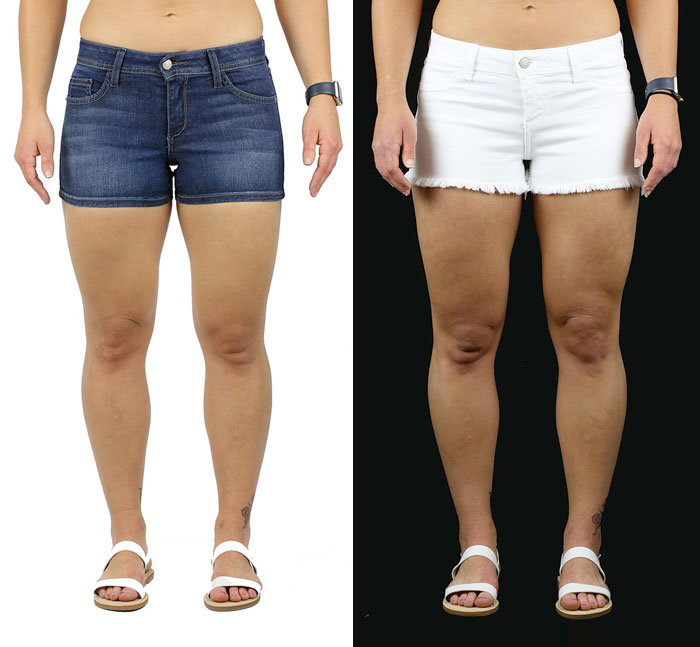 Fran Denim Diane and Ivy Shorts for muscular women
