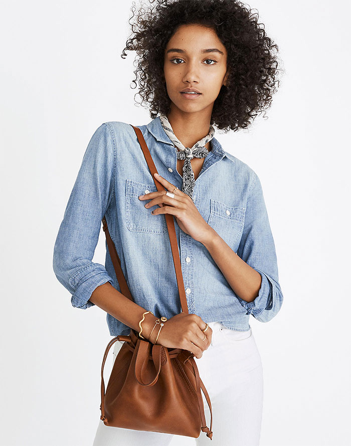 Small Drawstring Transport Crossbody Bag from Madewell