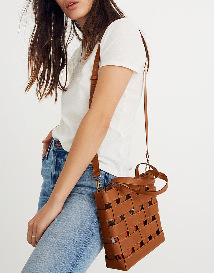 Transport Basketweave Crossbody Bag from Madewell