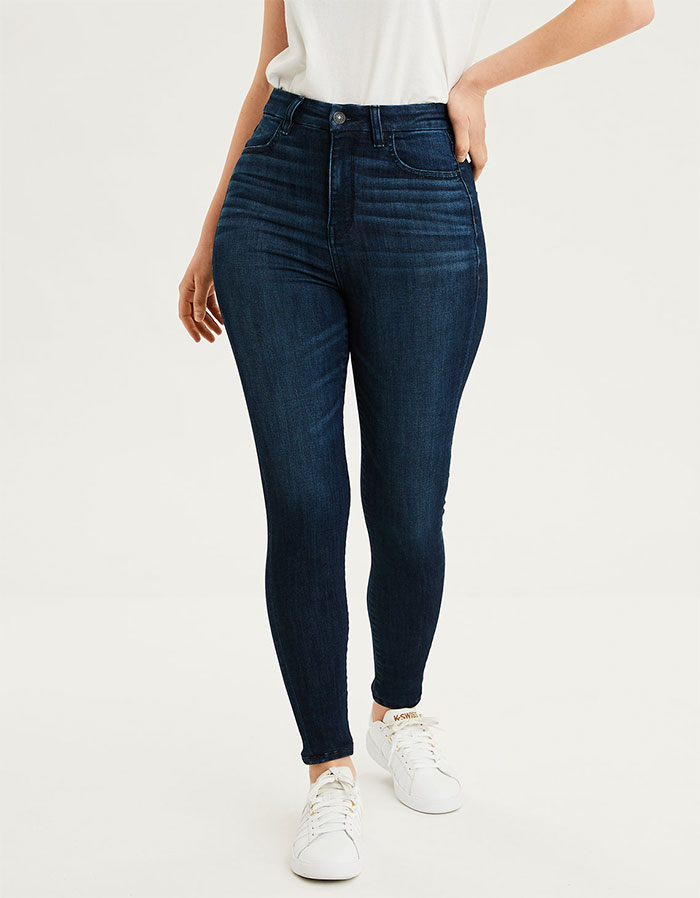 More Inclusive Jean Sizes from American Eagle Outfitters - Next Level Curvy Highest Waist Jegging in Cobalt Jewel
