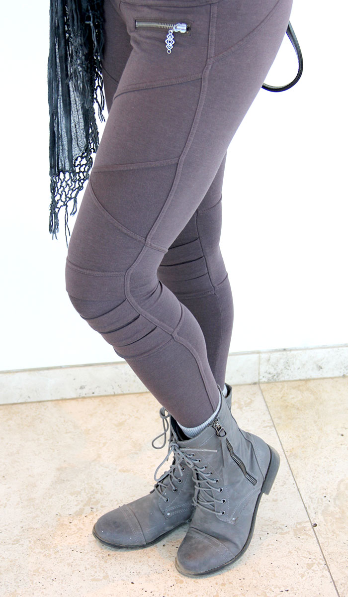 Detail shot of the Apocalypse Leggings from Nomads Hemp Wear