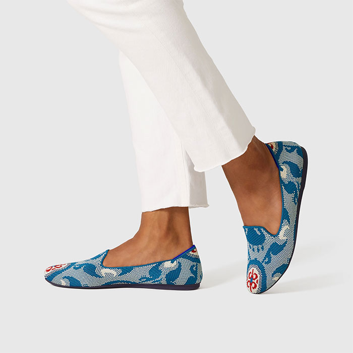 Rothy's Loafer Shoe in Moroccan Teal