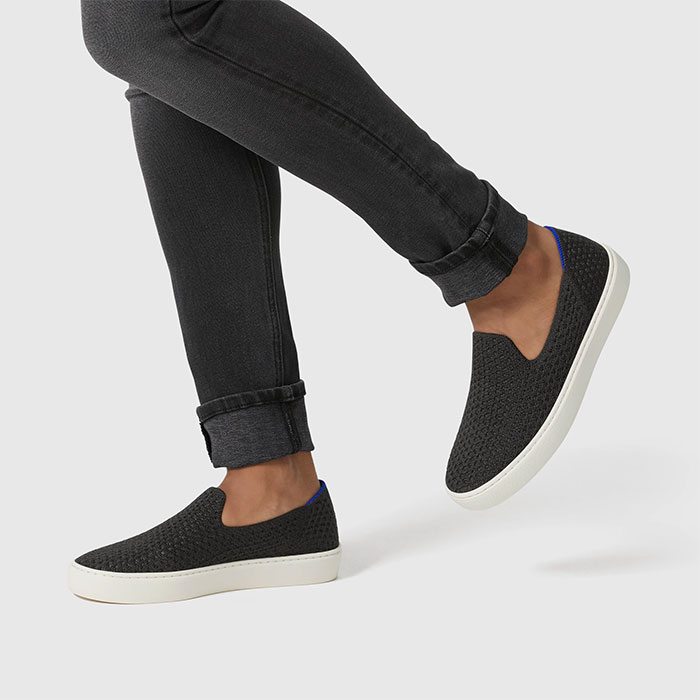 Rothy's Slip Sneaker in Black Honeycomb