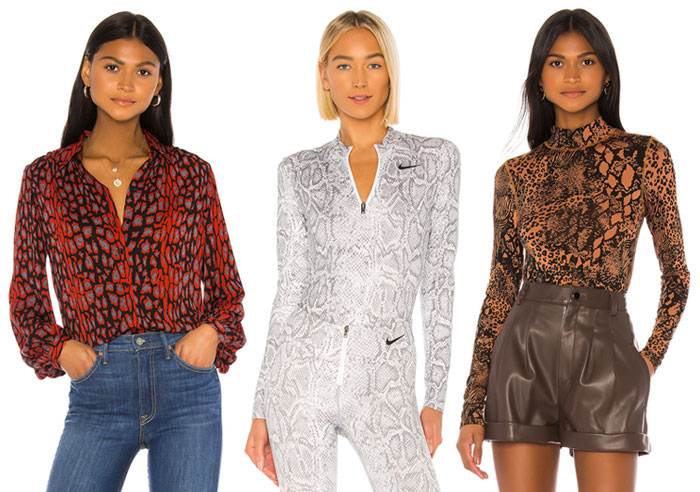 Animal Print Blouse and Bodysuits