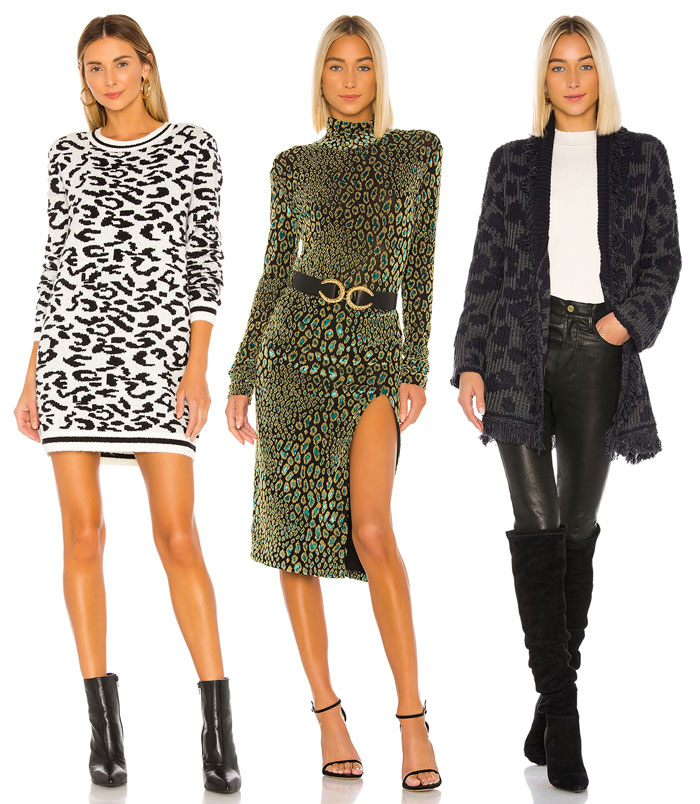Animal Print Dresses and Cardigan
