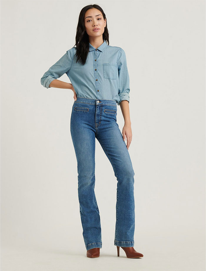 Lucky Brand Sculpt-Ed Jeans - High Rise Bridgette Boot
