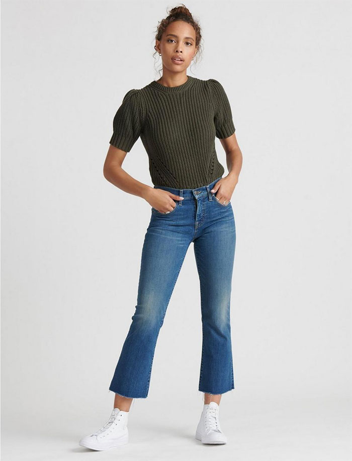 Lucky Brand Sculpt-Ed Jeans - Mid Rise Ava Crop Mini Boot