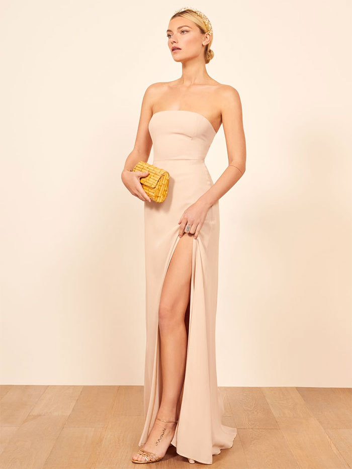 Reformation Ingrid Dress in Champagne