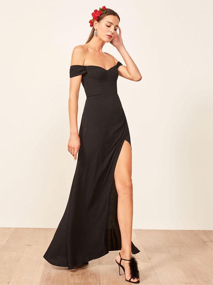 Reformation Marilyn Dress in Black