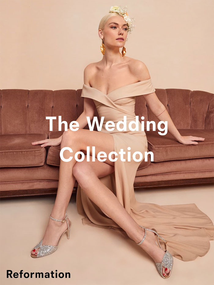 Sustainable Wedding and Party Dresses from Reformation