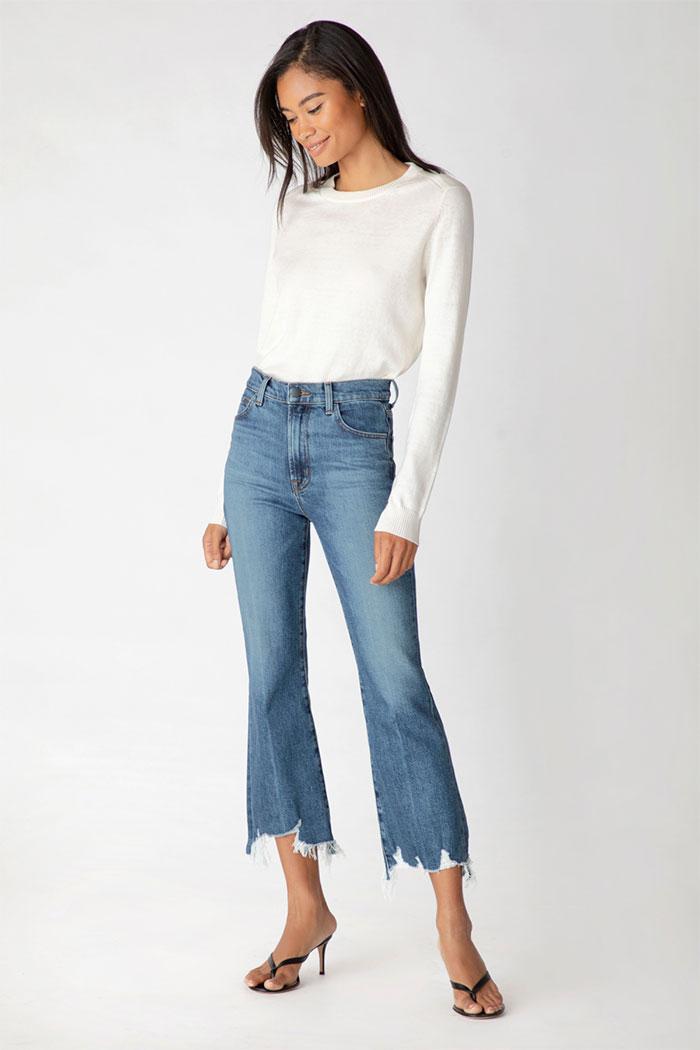 Julia High-Rise Flare Jeans In Wonderland Destruct