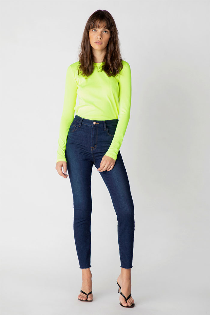 J Brand Leenah High-Rise Ankle Jeans In Moro