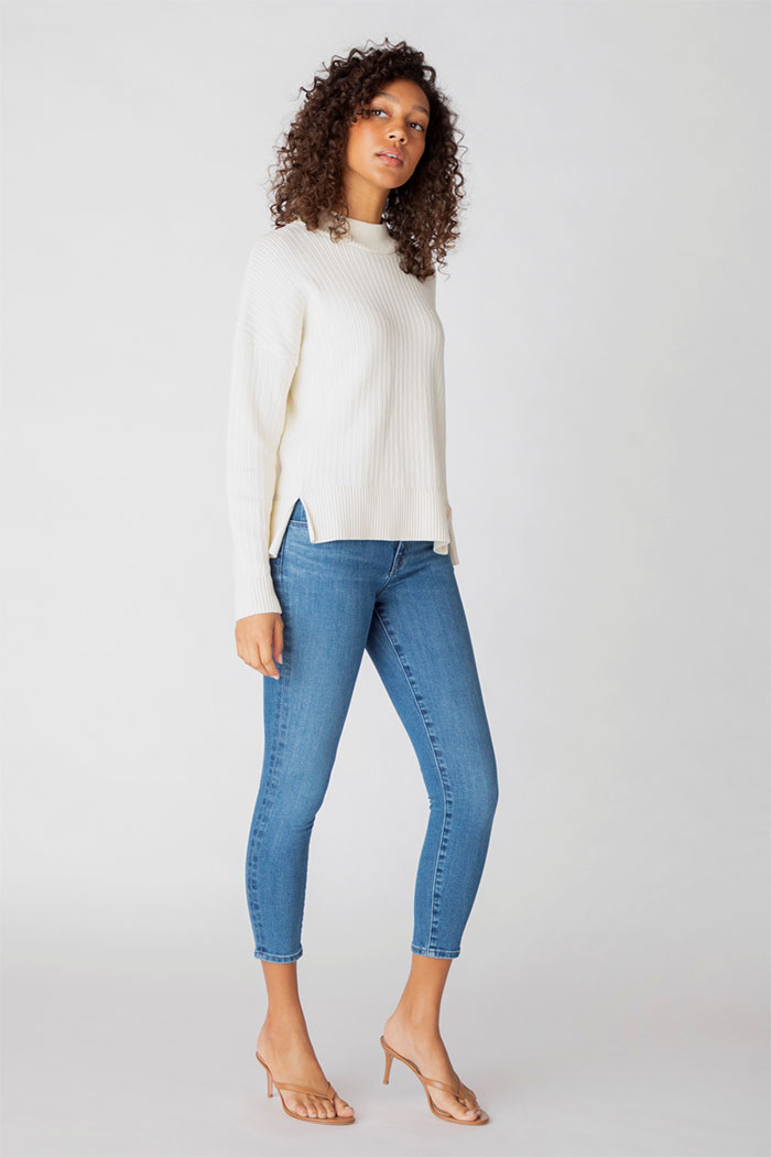 J Brand 835 Mid-Rise Cropped Skinny Jeans In Heart